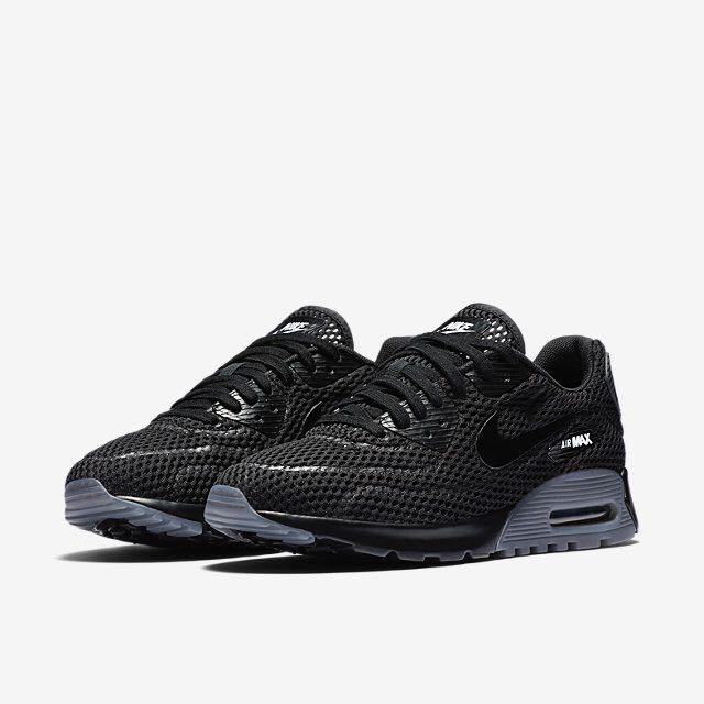 hot sale online af817 ef747 Nike Air Max 90 Ultra Breathe (Women) - Black Cool Grey, Women s ...