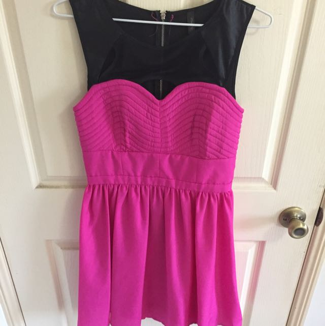 Pink And Black Formal Dress