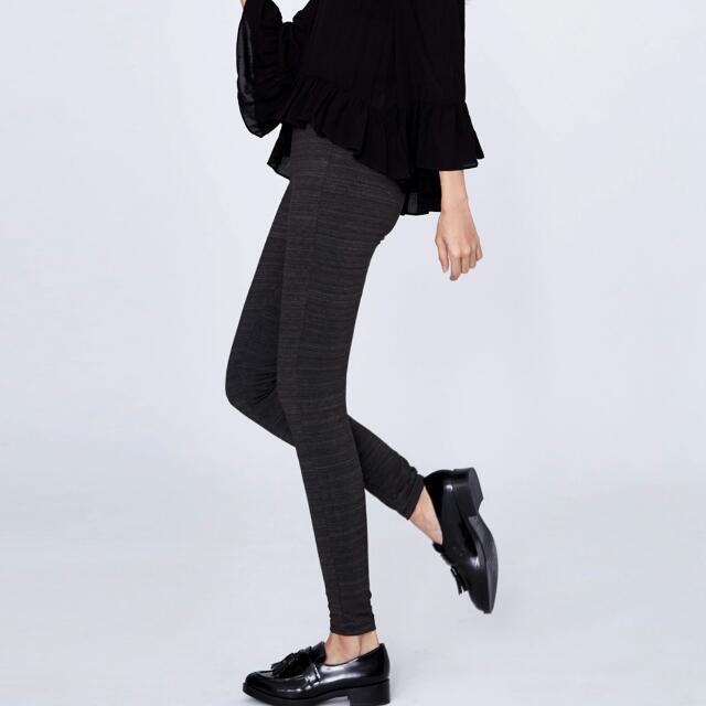 SIMPLY 超顯瘦條紋彈力緊身褲