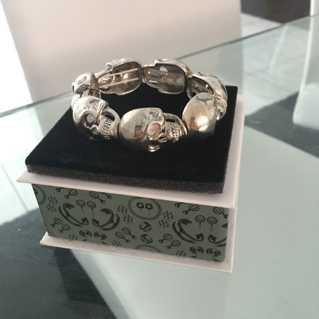 Skull Bracelet. Check Out My Other Items!