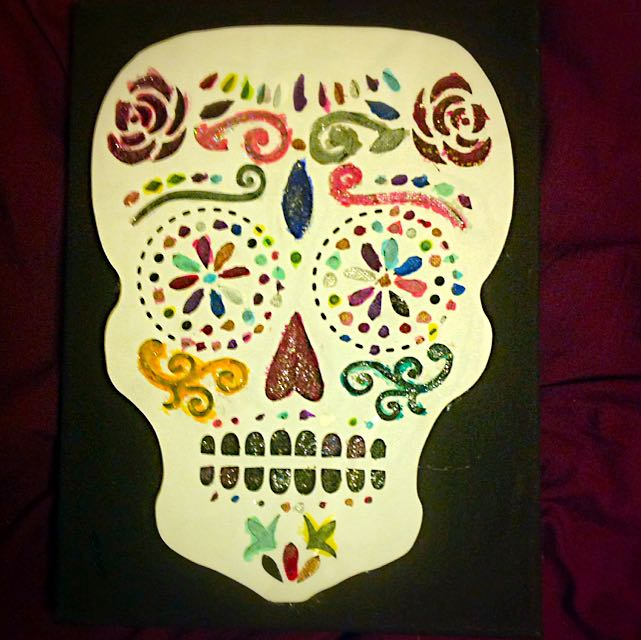 Skull Picture On Canvas