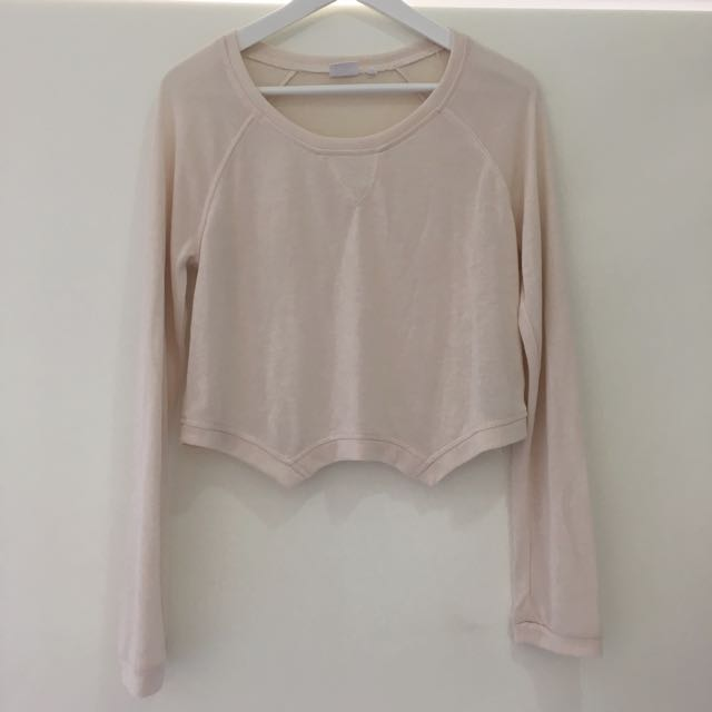 Some Days Lovin Crop Long Sleeve Top New Size Small