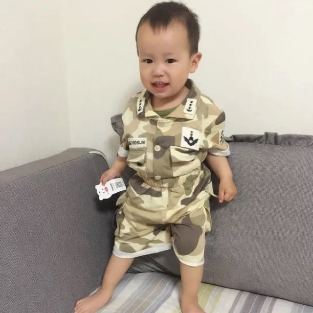 Baby Song Joong Ki Descendants Of The Sun Dots Kid S Army Wear