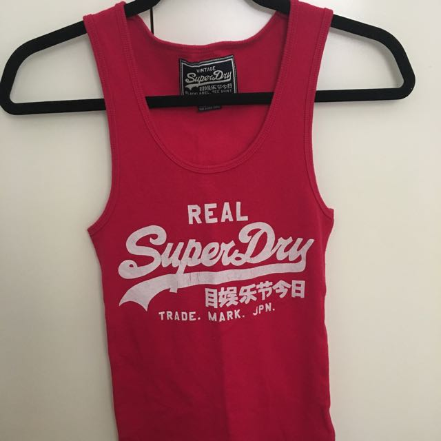 Superdry Tank Top Red