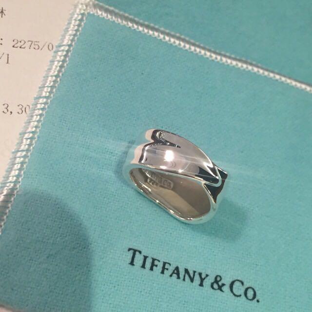Tiffany&co 純銀造型戒指,專櫃真品