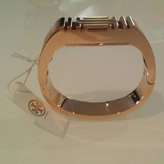 TORY BURCH for Fitbit Metal Hinged Rose Gold Bracelet