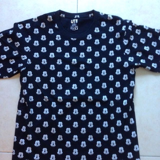 7b74bb9d5 Uniqlo Disney Mickey Mouse Monogram T-shirt, Men's Fashion, Clothes, Tops  on Carousell
