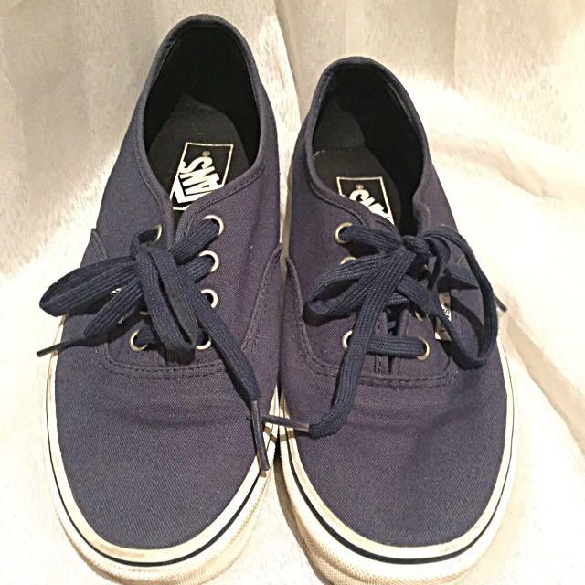Unisex Vans Blue Navy Shoes