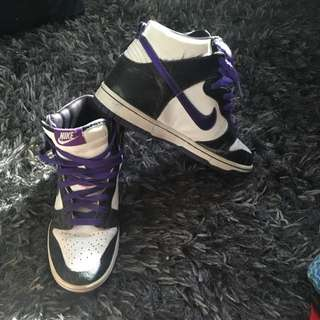 Blk/Wht/Purple Nike Dunks - 7