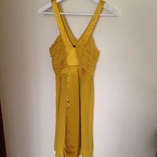 Mustard Yellow Silk Dress Size 8