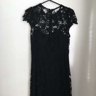 Atmos And Here Black Lace Dress