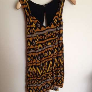 Mink Pink Tribal Print Dress Size 8