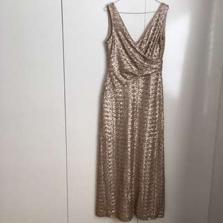 Gold Sequins Matthew Eager Dress