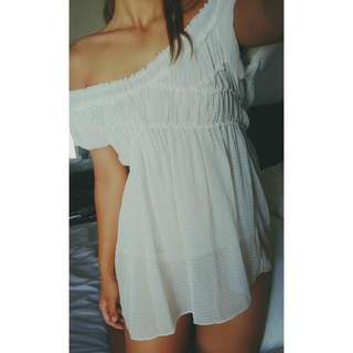 White Off Shoulders Dress