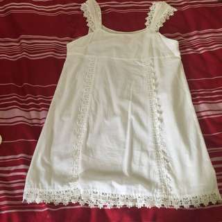 Runaway Pony White dress Size S