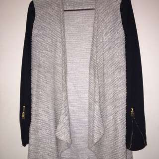 Grey Knit With Black Sleeves
