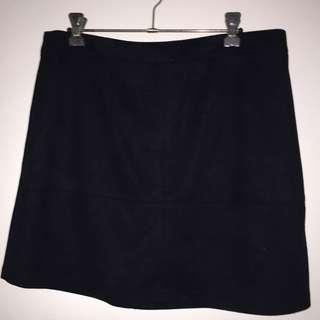 Dotti Black Velvet High Wasted Skirt