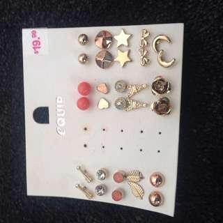 15 Pairs Of Earrings