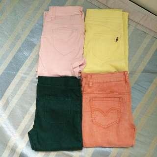 (降)彩色緊身褲 貼腿褲