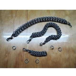 銀蛇 - 手作金屬編織手鍊