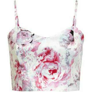Bardot Crop Top Floral