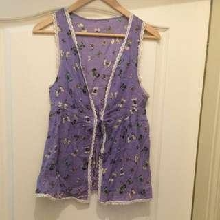 蝴蝶印花罩衫