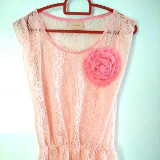Pink Lacey Blouse