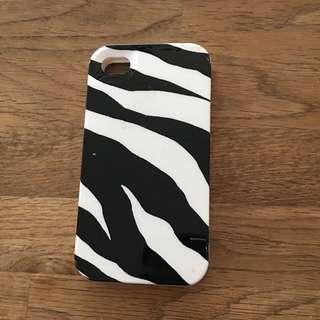 MK 斑馬紋 正版 iPhone 4 手機殼