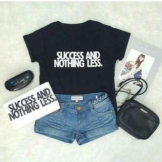 Kaos Cewek Nothing Less