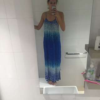 Pink Diamond. Coloured Blue Long Dress