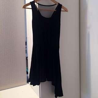 不規則剪裁-網背性感小洋裝