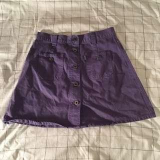 Purple Denim Skirt
