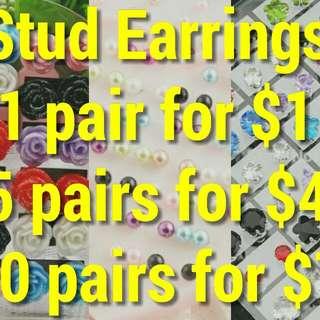 BRAND NEW STUD EARRINGS