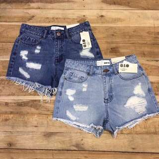 Ripped Top Shop Denim Short (Joni)