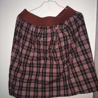 Skirt Kotak-kotak