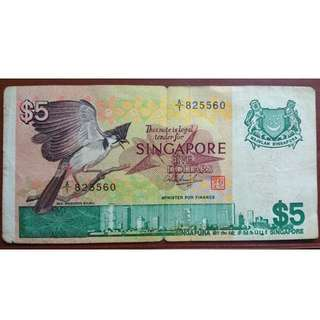 Singapore bird A1 $5