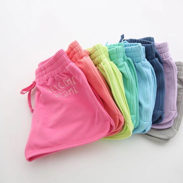 小童糖果色短褲