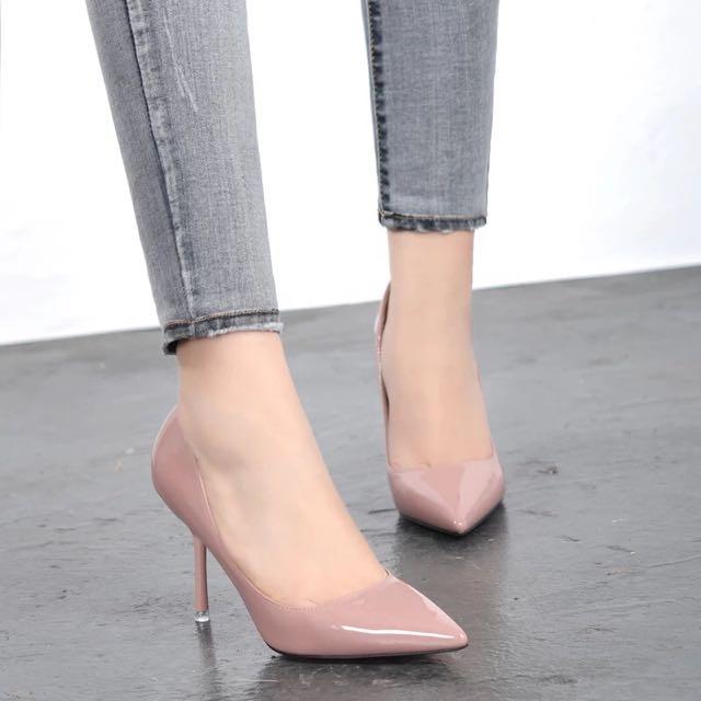 春秋新款 超高質感性感夜店尖頭細跟高跟鞋