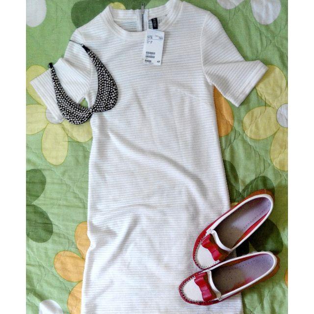 全新 h&m 白色洋裝 forever21  zara 可參考