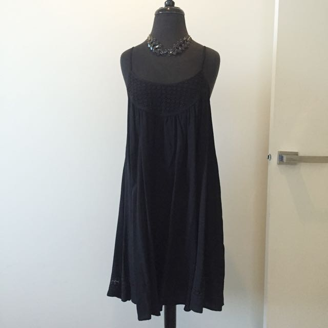 Beachy Black Swing Dress