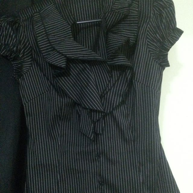 Black Striped Business Shirt