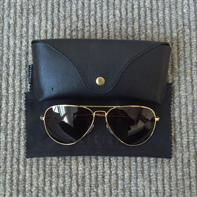 Electric Aviator Sunglasses | Gold + Bronze Lense (unisex)