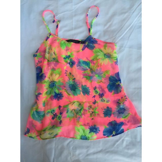 Glassons  Floral Top w/ Adjustable Strap