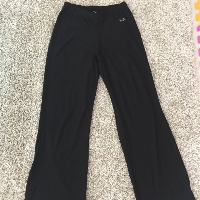 LA Gear Women Yoga/ Gym Open Leg Pants Size 8/36