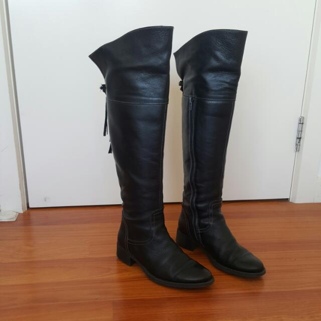 Leather Knee High Boots size 37