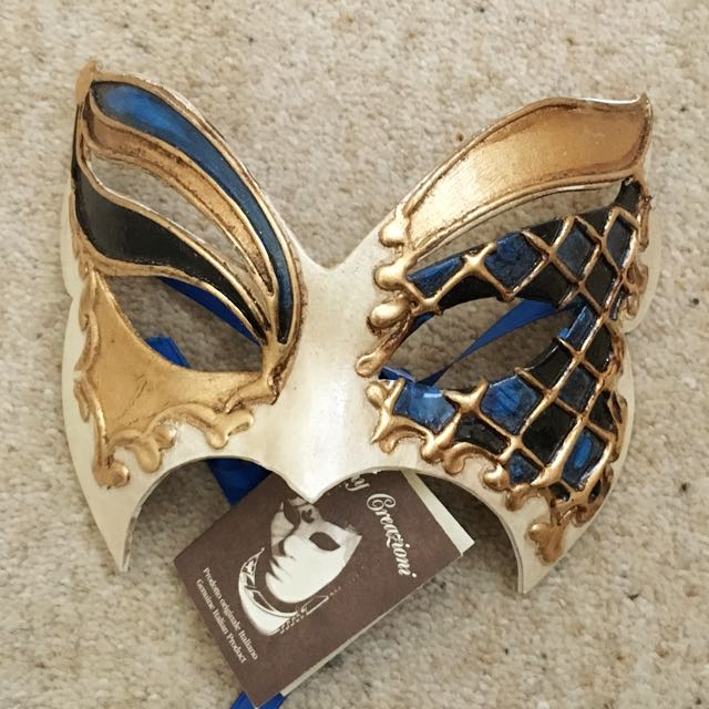 Men's Venetian Mask, Hand Made Italy