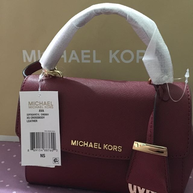 Michael Kors Ava Cross Body Small Cherry Red