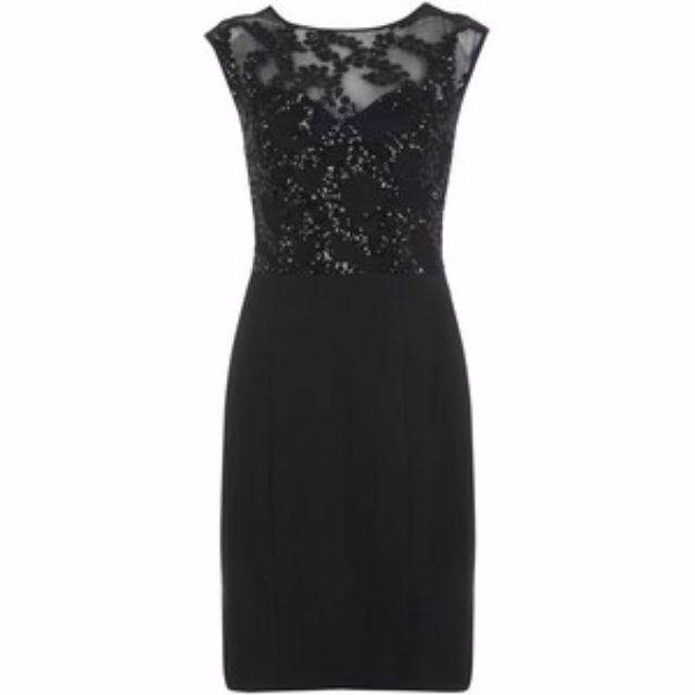 Miss Selfridge Sequin Stretch Dress