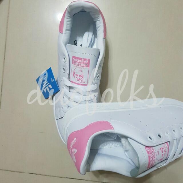 Assez Adidas Stan Smith Sneakers Baby Pink, Women's Fashion on Carousell GI09