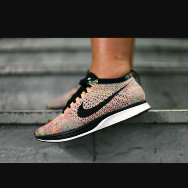 half off 91880 d7259 Pre-Order Nike Flyknit Racer Multicolor 3.0, Sports on Carousell